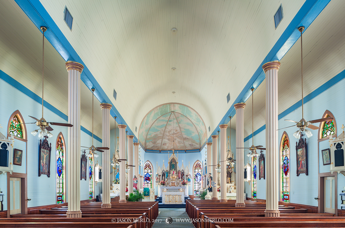 St. Mary's Catholic Church in Hallettsville, one of the Painted Churches of Texas.