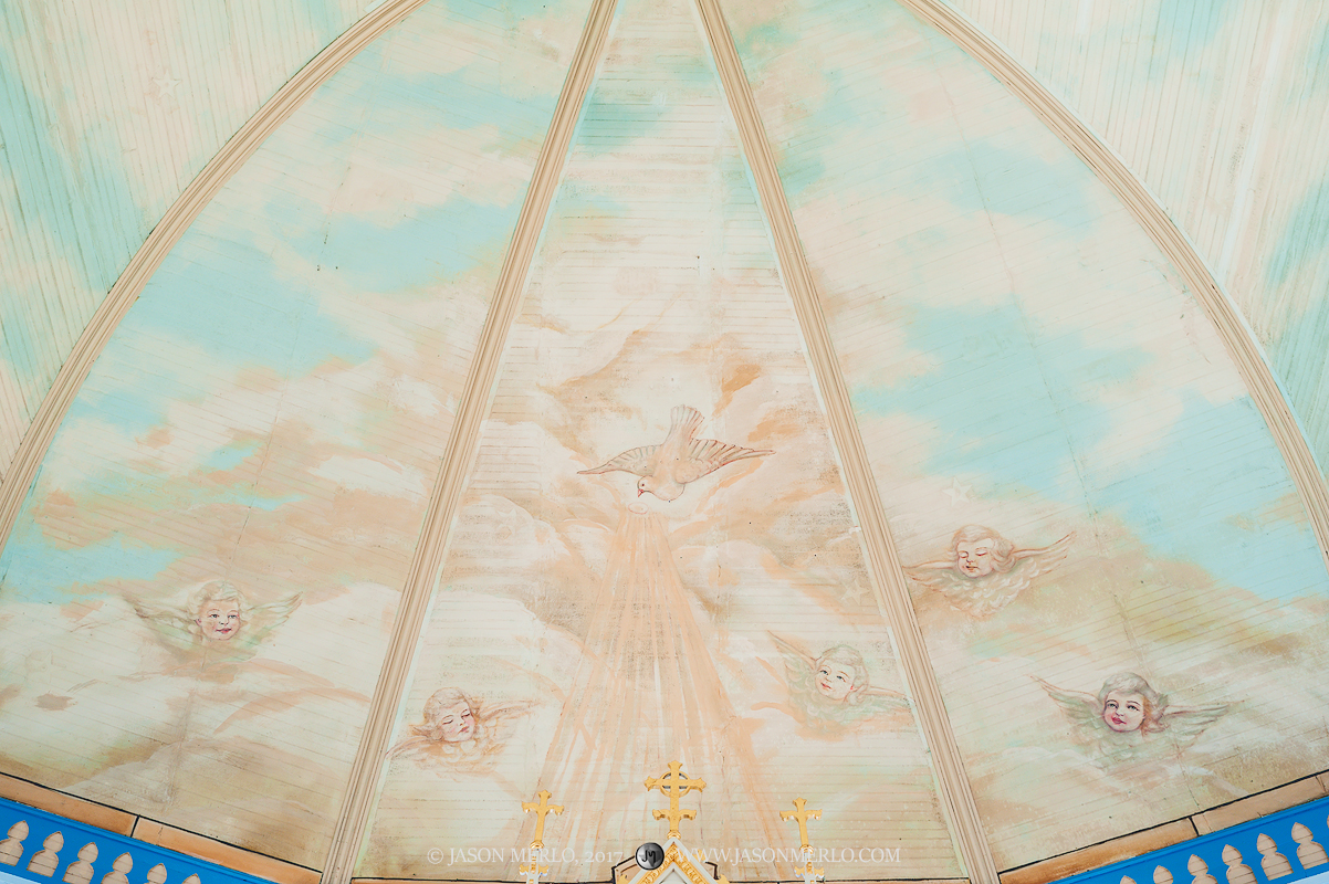 The painted apse at St. Mary's Catholic Church in Hallettsville, one of the Painted Churches of Texas.