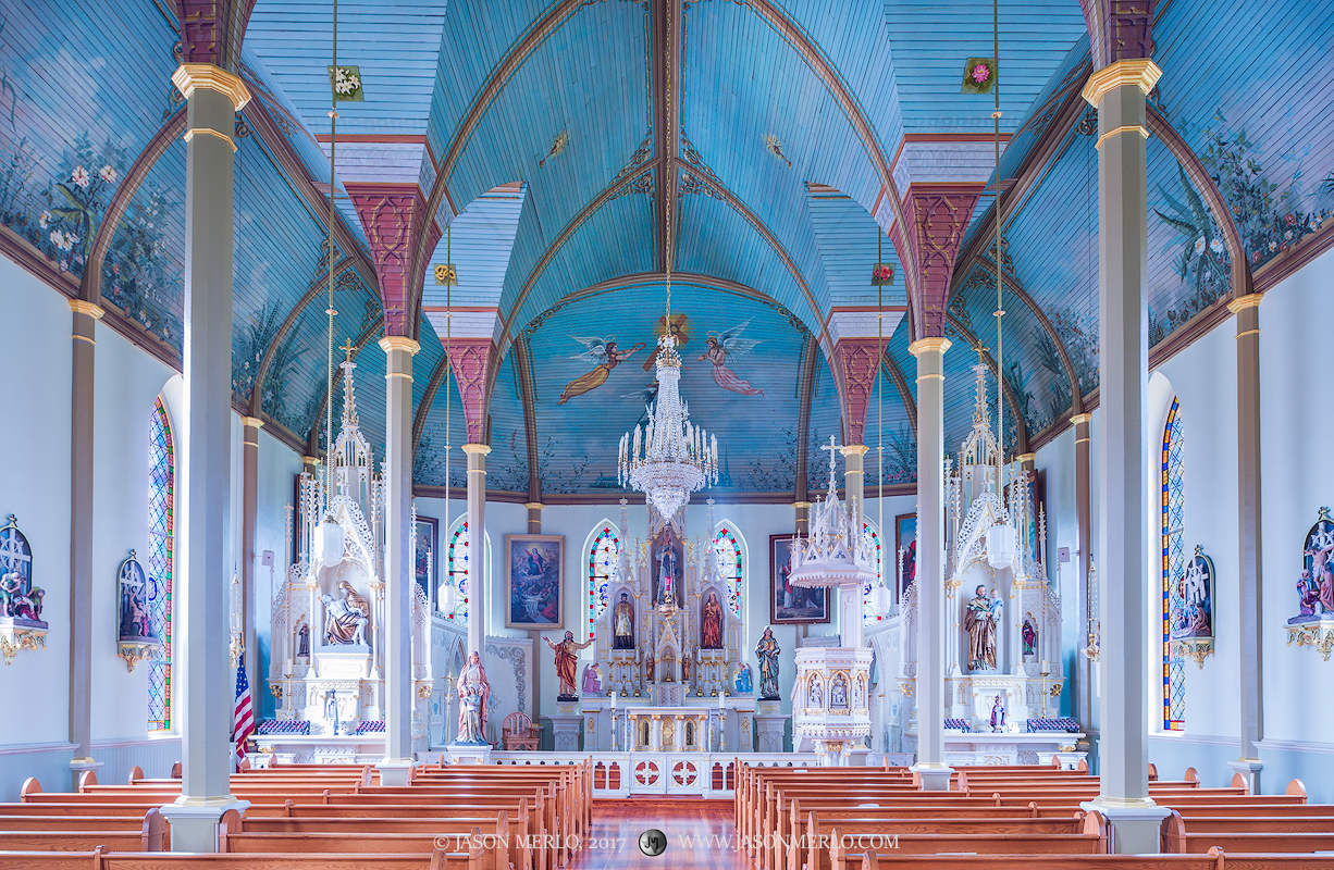 St Mary's Catholic Church, Praha, Fayette County, Painted Churches of Texas, photo