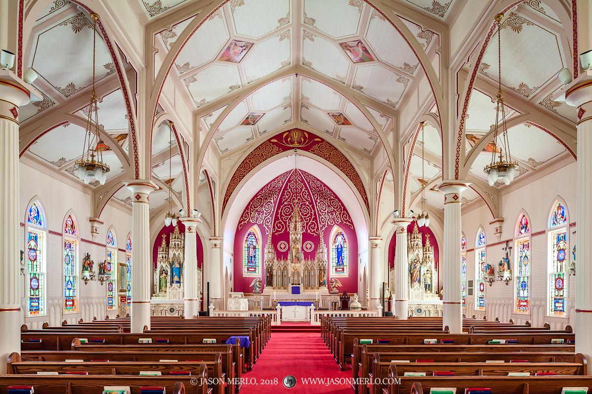 Guardian Angel Catholic Church, Wallis, Austin County, Painted Churches of Texas, photo